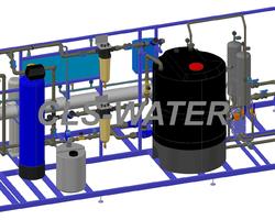 Plan 3D ADOUCISSEUR INDUSTRIEL CLS-WATER, TRAITEMENT DES EAUX