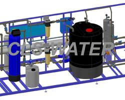 Plan 3D  Osmoseur industriel CLS-WATER, traitement des eaux industrielles