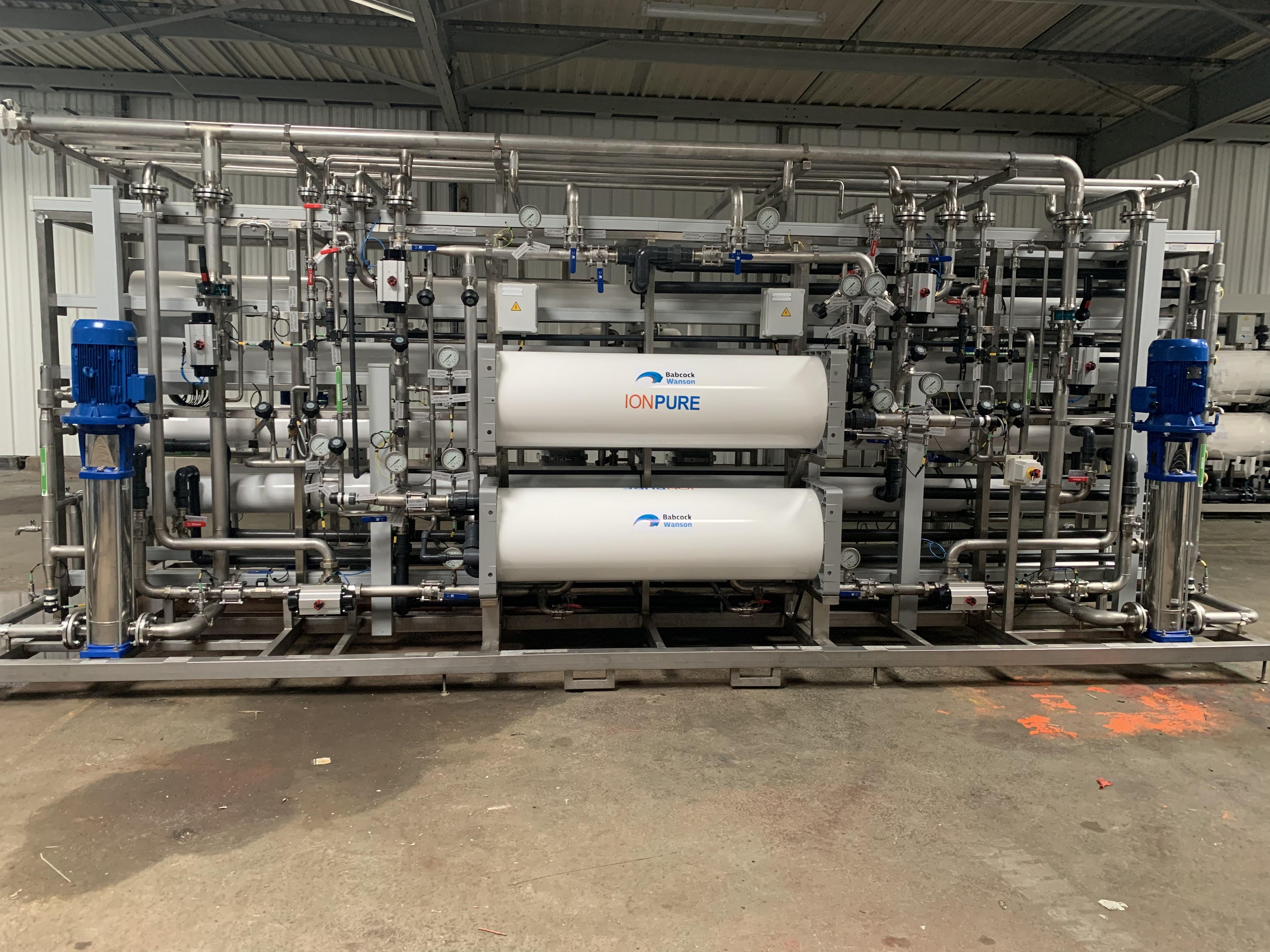 Production d'eau osmosée à destination de Belgrade